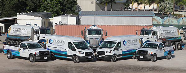 Residential plumber and septic truck fleet in Stuart