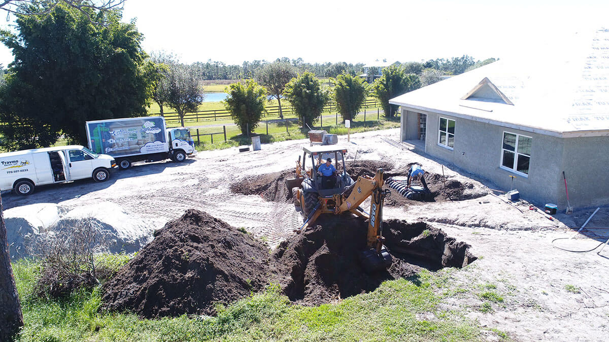 excavation for drainfield installation Stuart