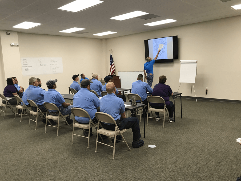 Training class for Cooke's Plumbing and Septic Technicians