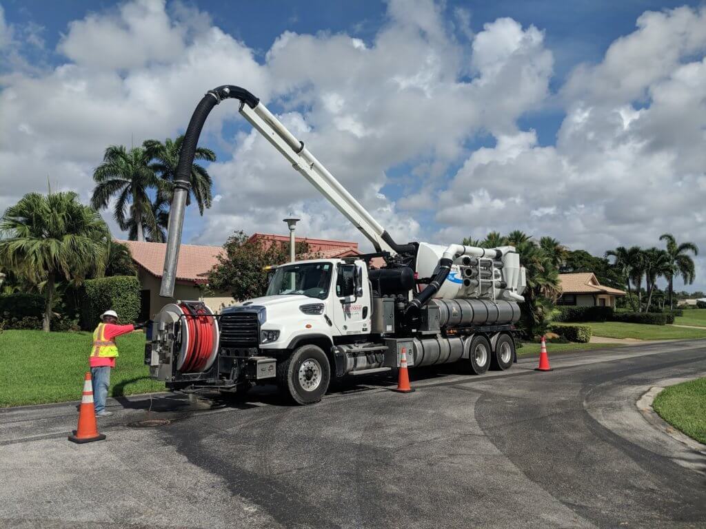 sewer line jetting truck