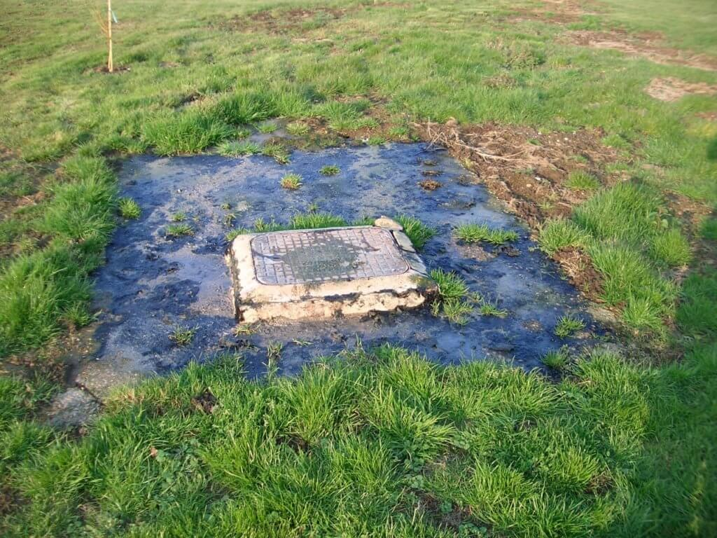 septic system damaged by storm