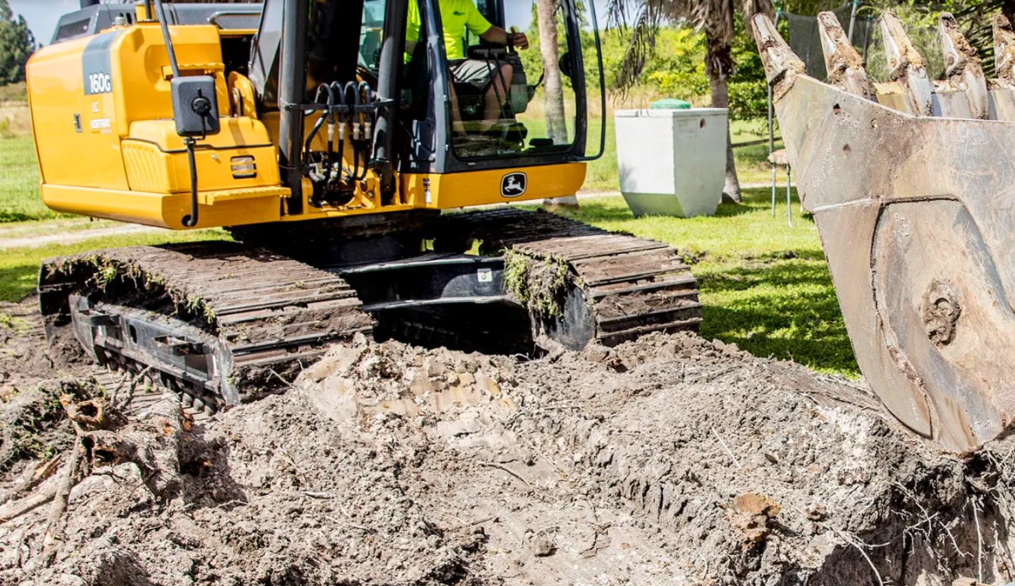 A septic tank being installed in Port St. Lucie.